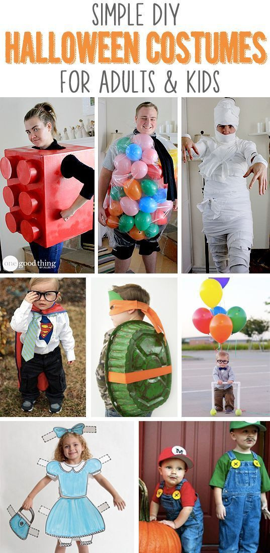 Best ideas about Easy DIY Halloween Costumes For Kids . Save or Pin Simple DIY Halloween Costumes For Adults & Kids Now.