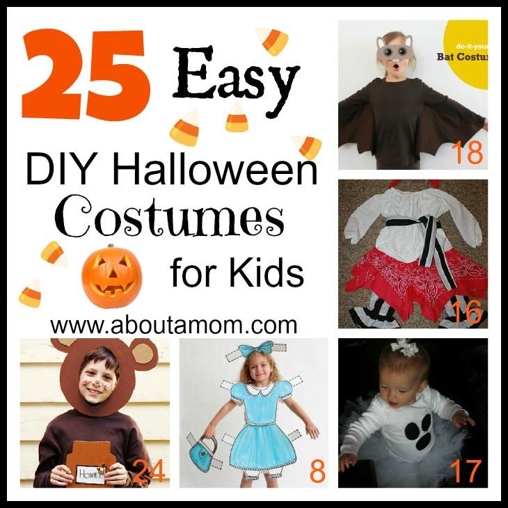 Best ideas about Easy DIY Halloween Costumes For Kids . Save or Pin 25 Easy DIY Halloween Costumes for Kids Now.