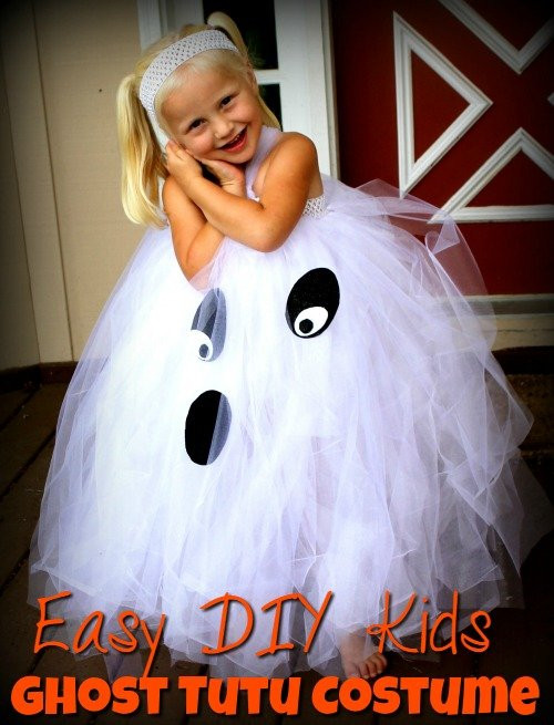 Best ideas about Easy DIY Kids Costumes . Save or Pin Kids Ghost Costume Easy DIY Kids Ghost Tutu Costume Now.