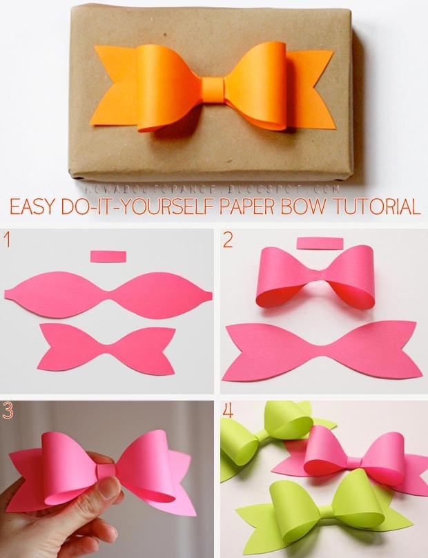 Best ideas about Easy Do It Yourself Projects For Kids . Save or Pin Diy Paper Bow s and for Now.