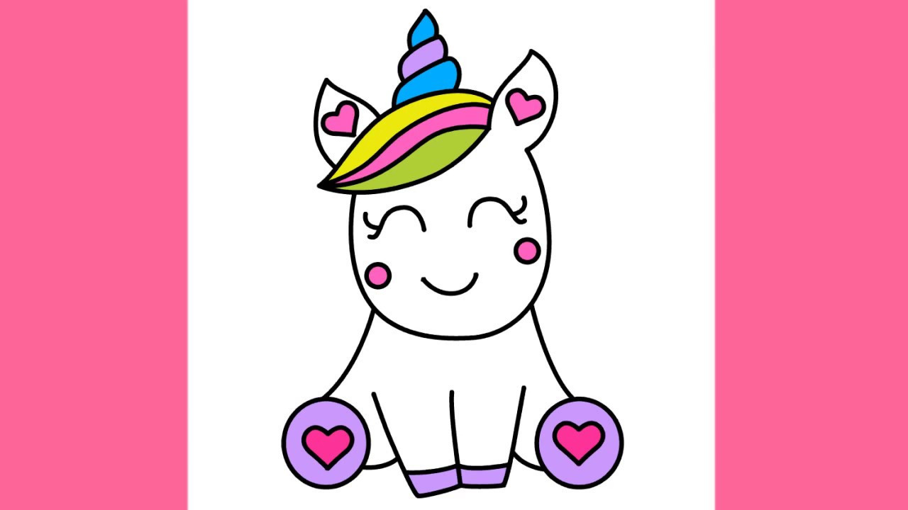 Best ideas about Easy For Kids . Save or Pin How to draw Super Cute and Easy Unicorn for kids step by Now.