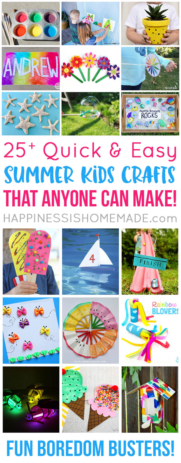 Best ideas about Easy For Kids . Save or Pin Easy Summer Kids Crafts That Anyone Can Make Happiness Now.