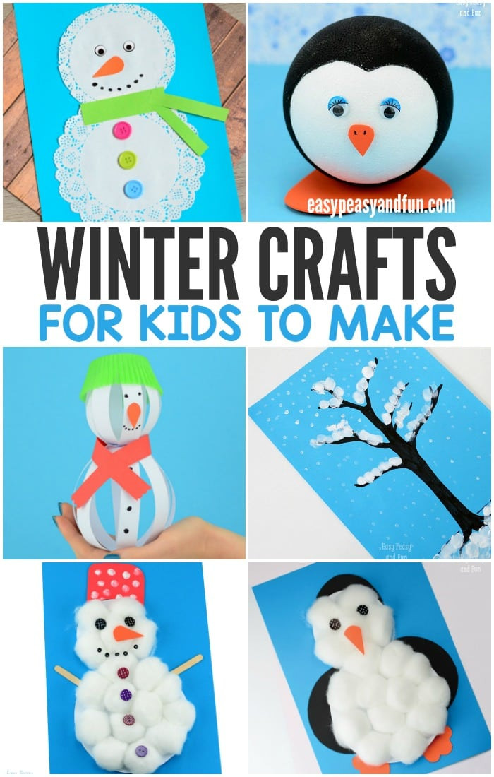 Best ideas about Easy For Kids . Save or Pin Winter Crafts for Kids to Make Fun Art and Craft Ideas Now.