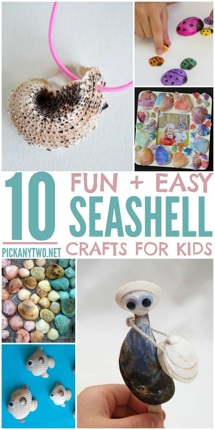 Best ideas about Easy For Kids . Save or Pin 10 Fun & Easy Seashell Crafts for Kids Pick Any Two Now.