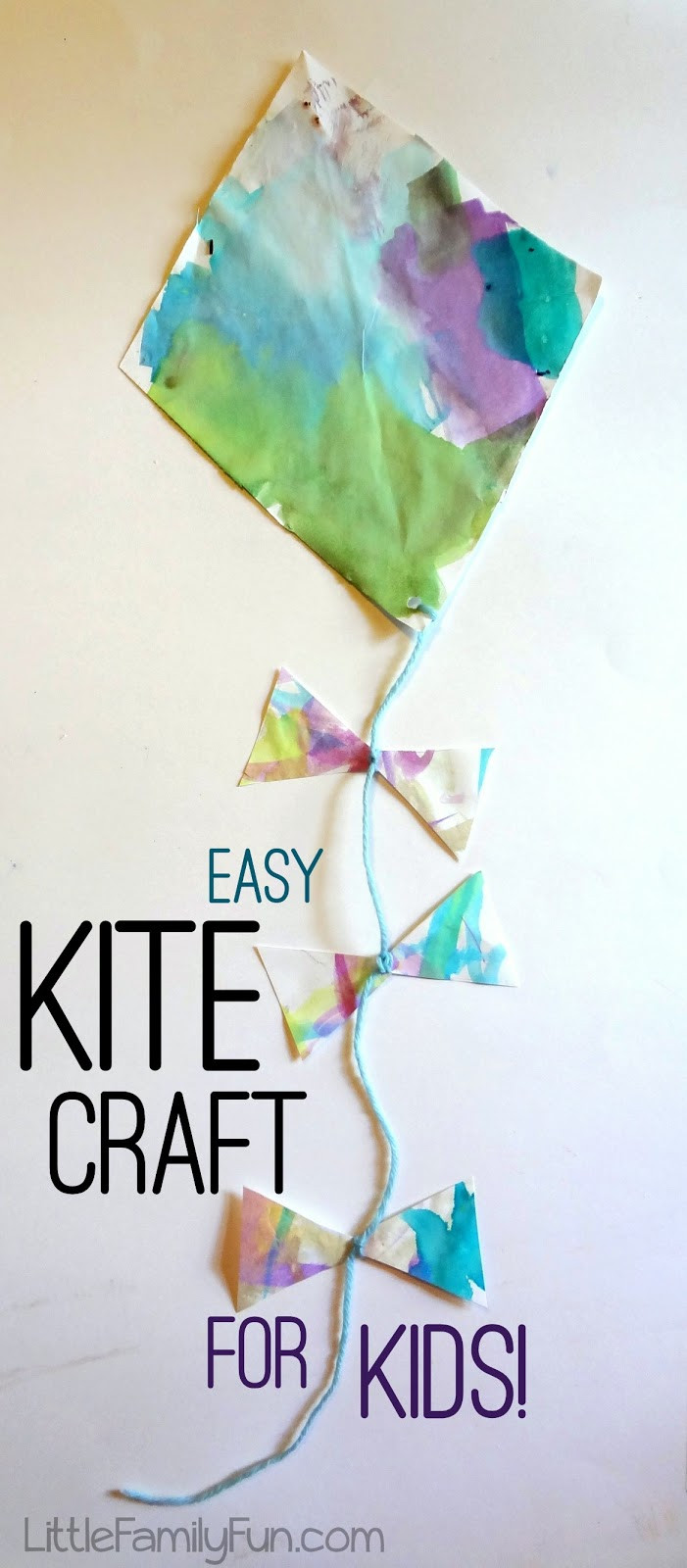 Best ideas about Easy For Kids . Save or Pin Easy Kite Craft for Kids Now.