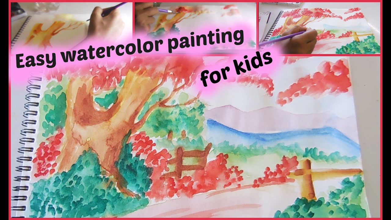 Best ideas about Easy For Kids . Save or Pin Easy Watercolor Painting for kids Now.
