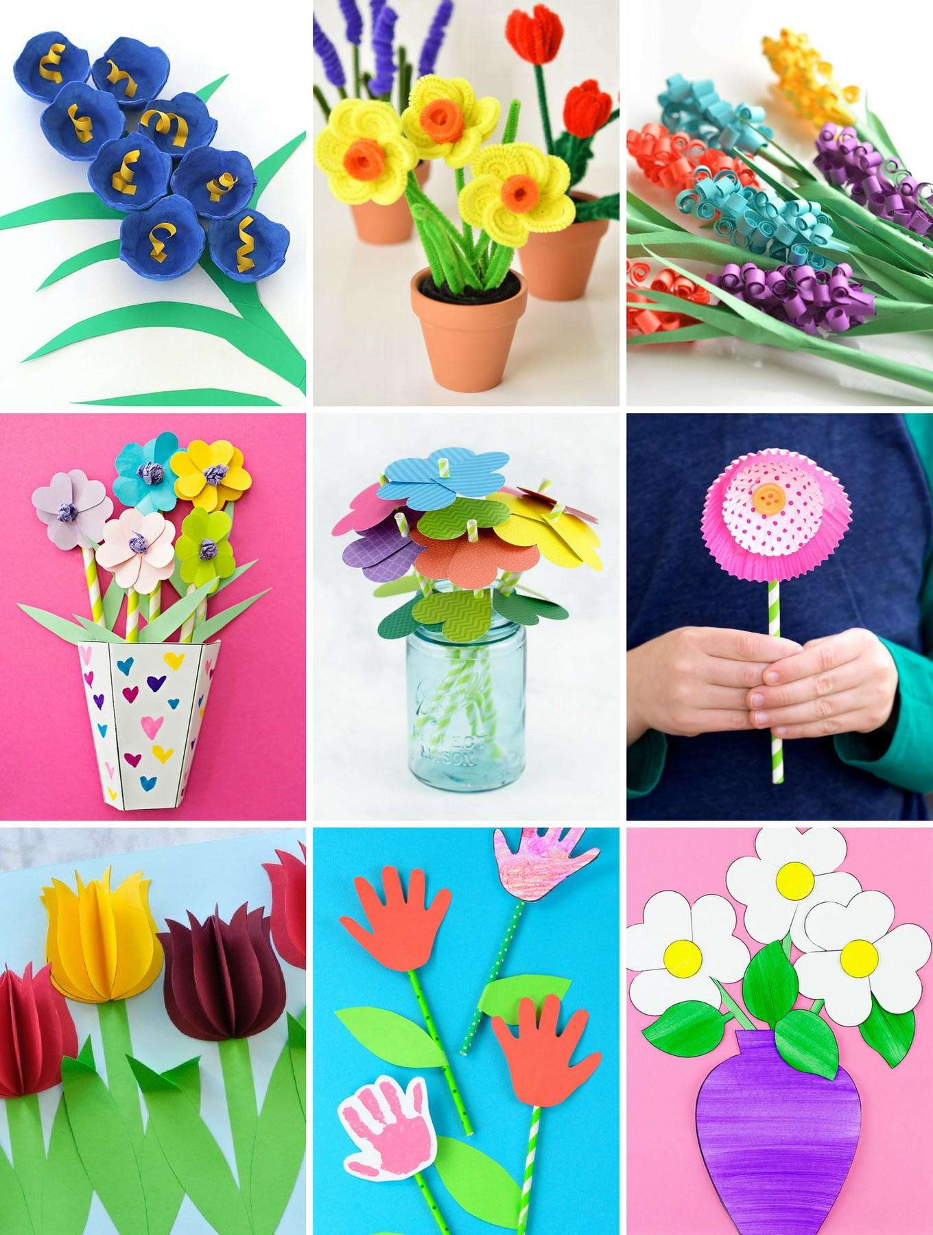 Best ideas about Easy For Kids . Save or Pin The Most Easy and Beautiful Flower Crafts Now.