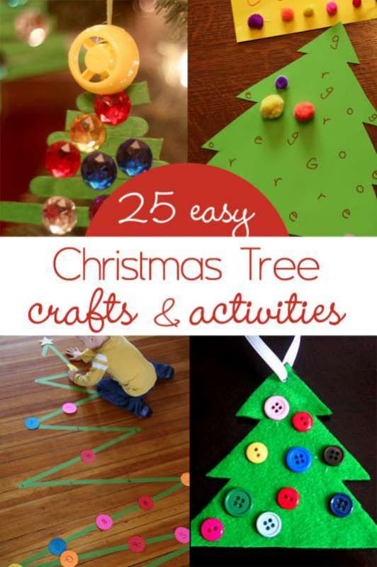 Best ideas about Easy Kids Activities . Save or Pin Christmas Tree Crafts & Activities for Kids Now.