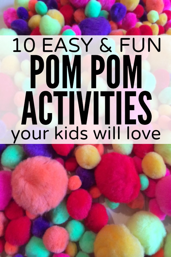Best ideas about Easy Kids Activities . Save or Pin 10 easy & fun pom pom activities for kids Now.