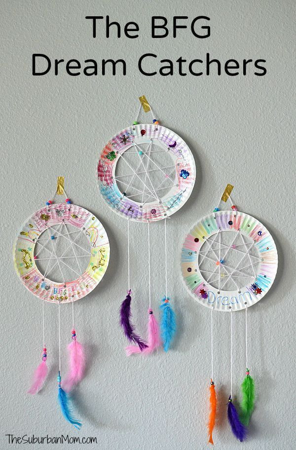 Best ideas about Easy Kids Crafts . Save or Pin The BFG Paper Plate Dream Catchers Kids Craft The Suburban Now.