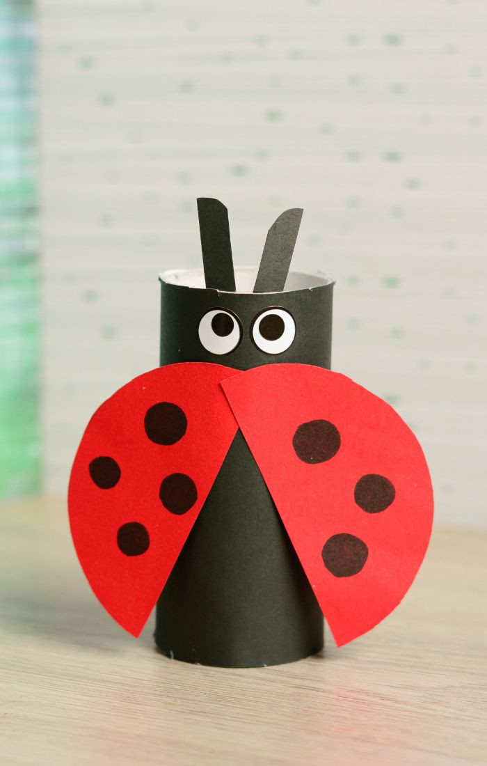 Best ideas about Easy Kids Crafts . Save or Pin Toilet Paper Roll Ladybug Craft Now.