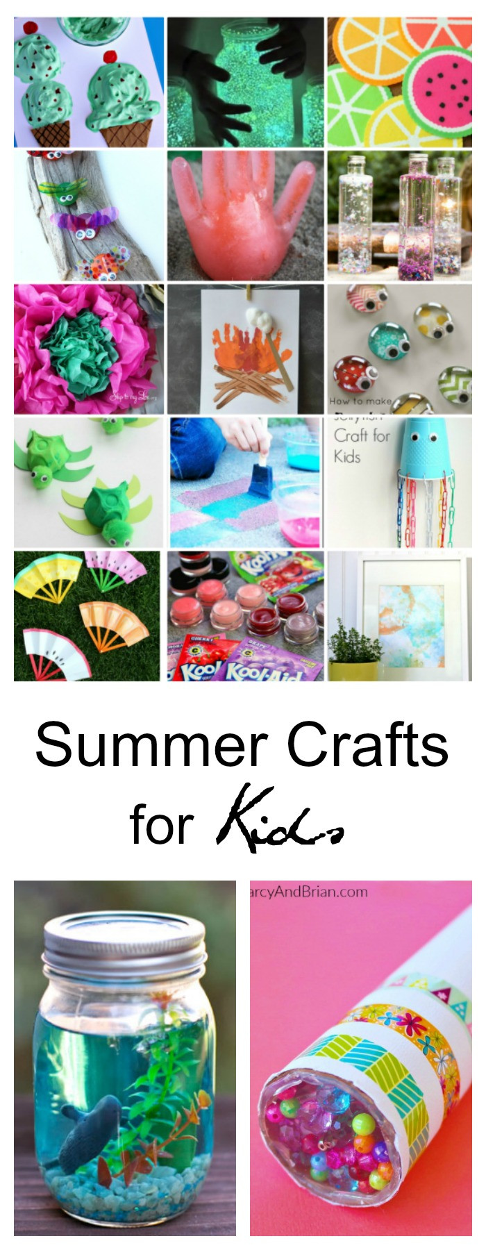 Best ideas about Easy Kids Crafts Ideas . Save or Pin 40 Creative Summer Crafts for Kids That Are Really Fun Now.