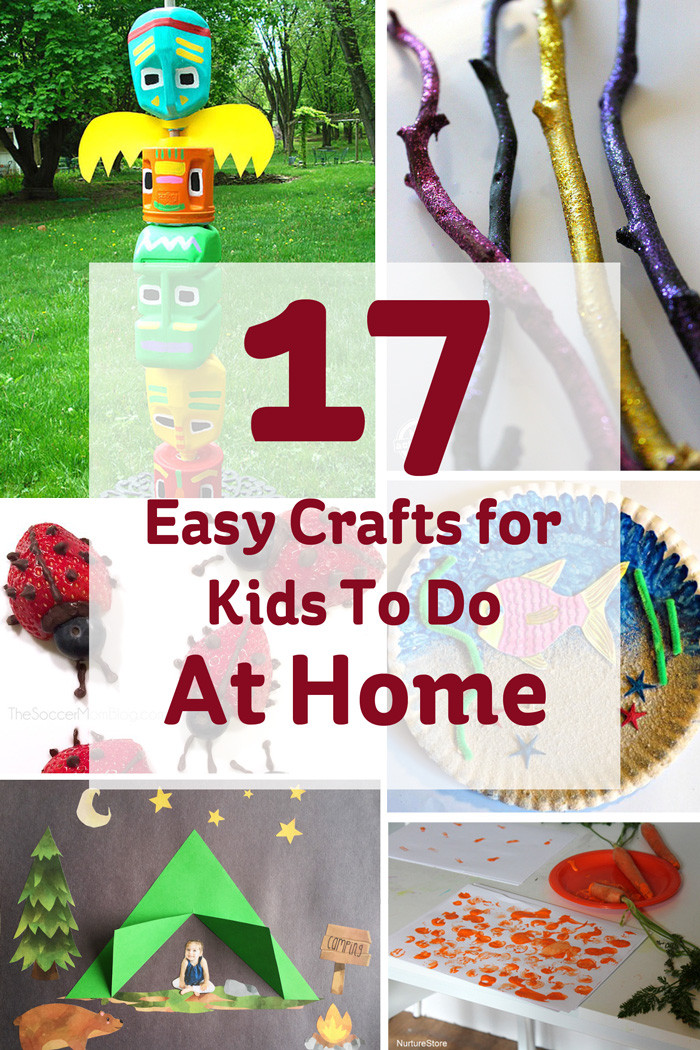 Best ideas about Easy Kids Project . Save or Pin 17 Easy Crafts for Kids to do at Home Hobbycraft Blog Now.