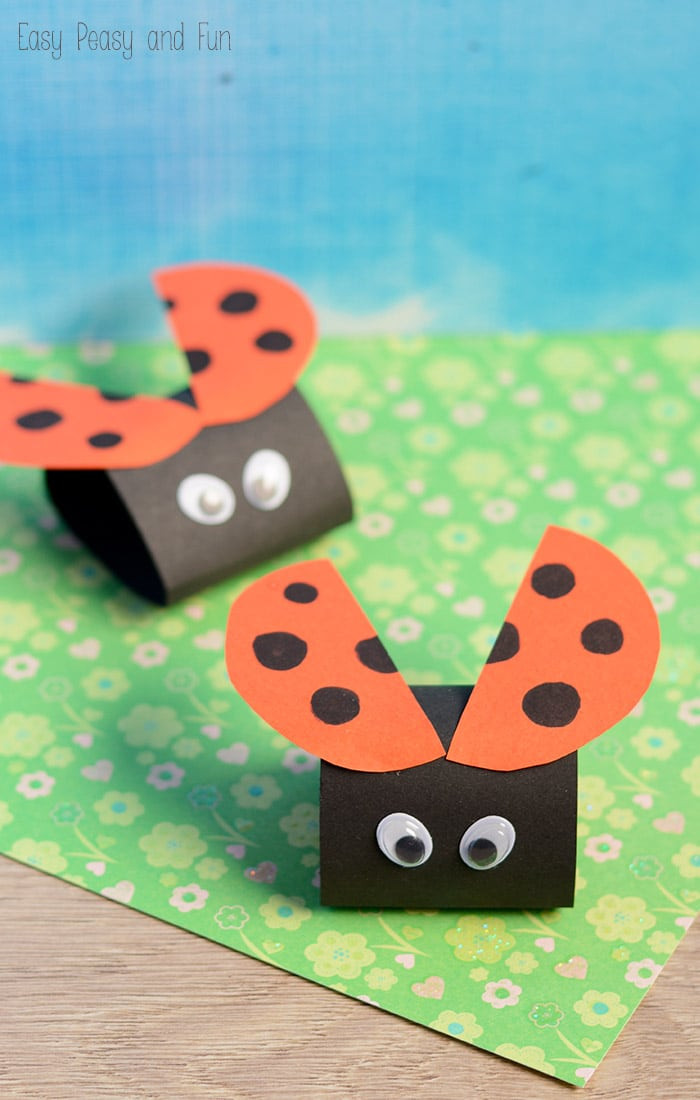 Best ideas about Easy Kids Project . Save or Pin Simple Ladybug Paper Craft Easy Peasy and Fun Now.
