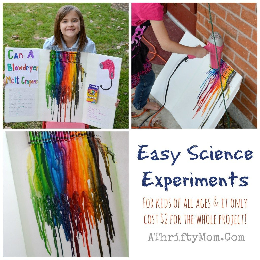Best ideas about Easy Kids Project . Save or Pin Fast And Easy Science Fair Experiments For Kids All Ages Now.