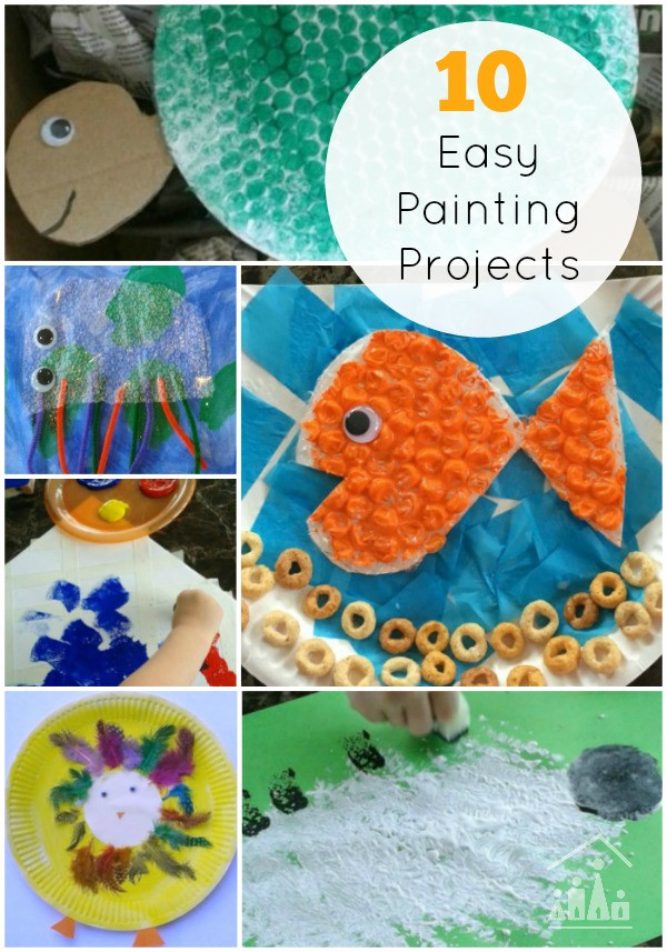 Best ideas about Easy Kids Project . Save or Pin 10 Easy Painting Projects for Siblings to do to her Now.