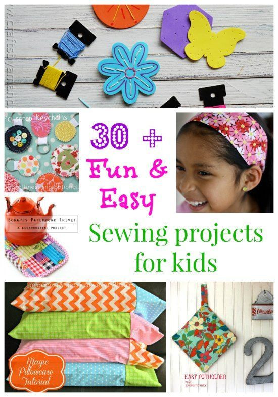 Best ideas about Easy Kids Project . Save or Pin Fun and easy sewing projects for kids Now.
