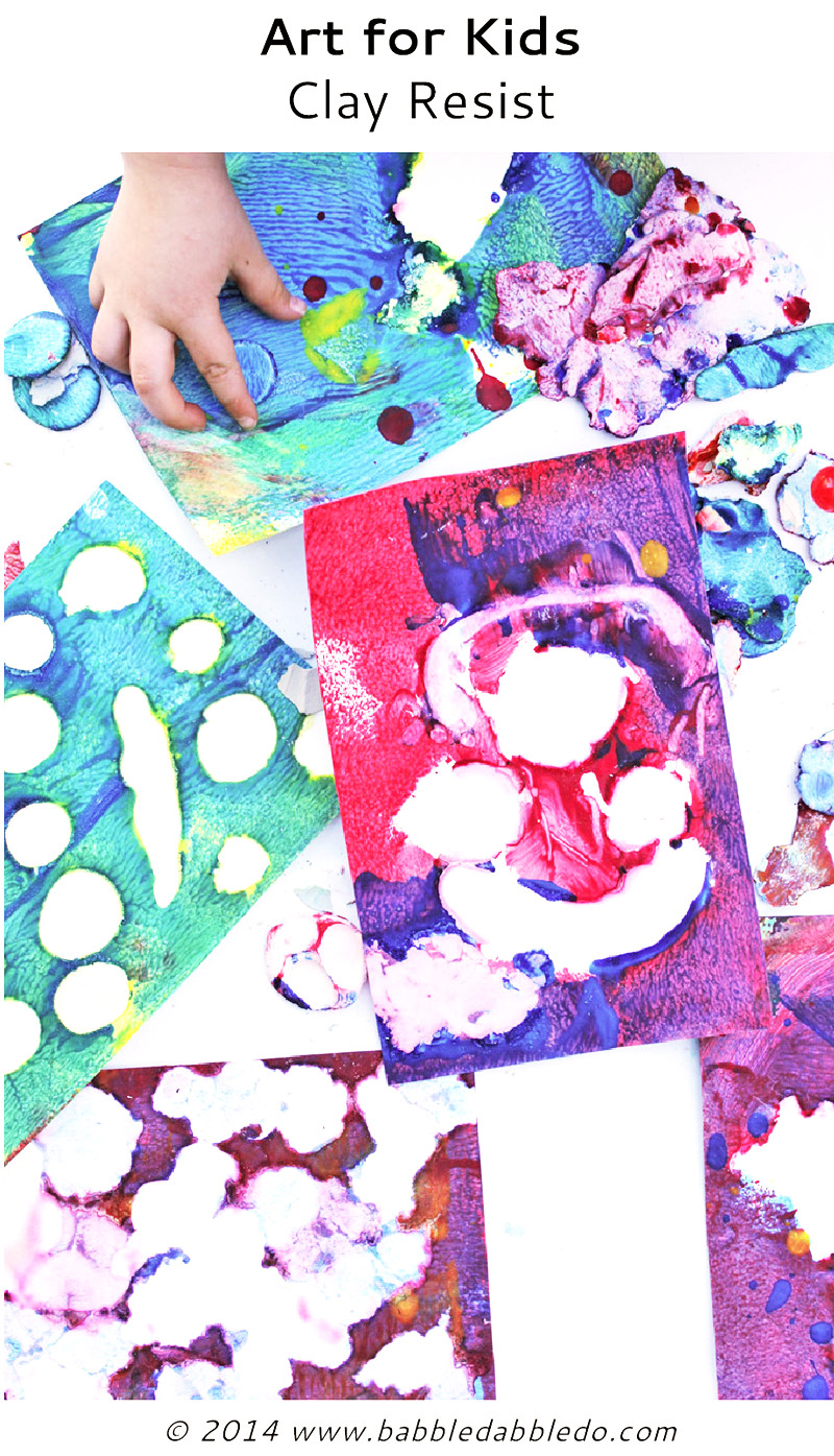 Best ideas about Easy Kids Project . Save or Pin Easy Art Projects for Kids Clay Resist Babble Dabble Do Now.