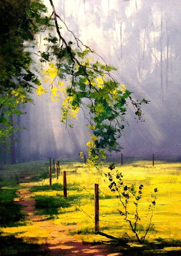 Best ideas about Easy Landscape Paintings . Save or Pin 60 Easy And Simple Landscape Painting Ideas Now.