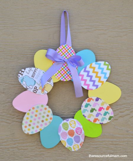 Best ideas about Easy Spring Crafts For Adults . Save or Pin Easy Paper Easter Wreath Now.