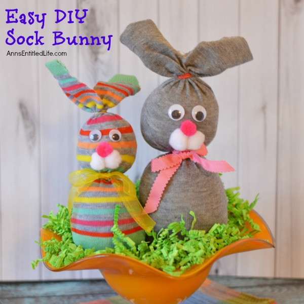 Best ideas about Easy Spring Crafts For Adults . Save or Pin No Sew Sock Bunny Now.