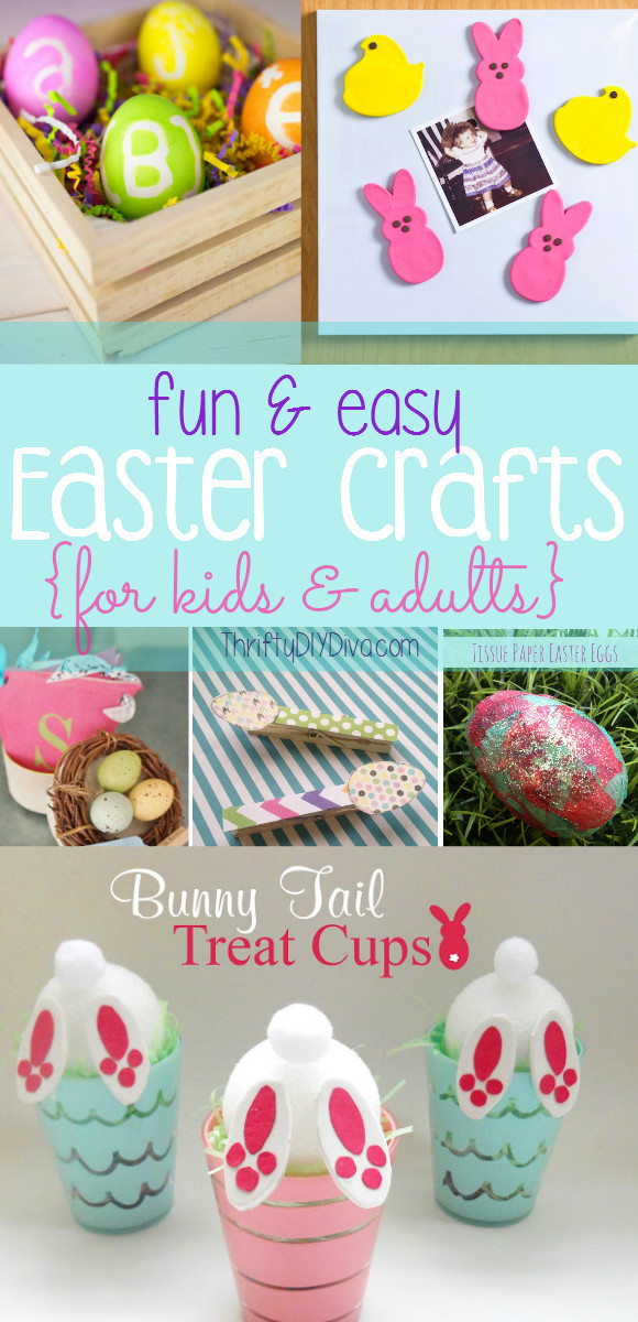 Best ideas about Easy Spring Crafts For Adults . Save or Pin Easy Easter Crafts for Kids and Adults Now.