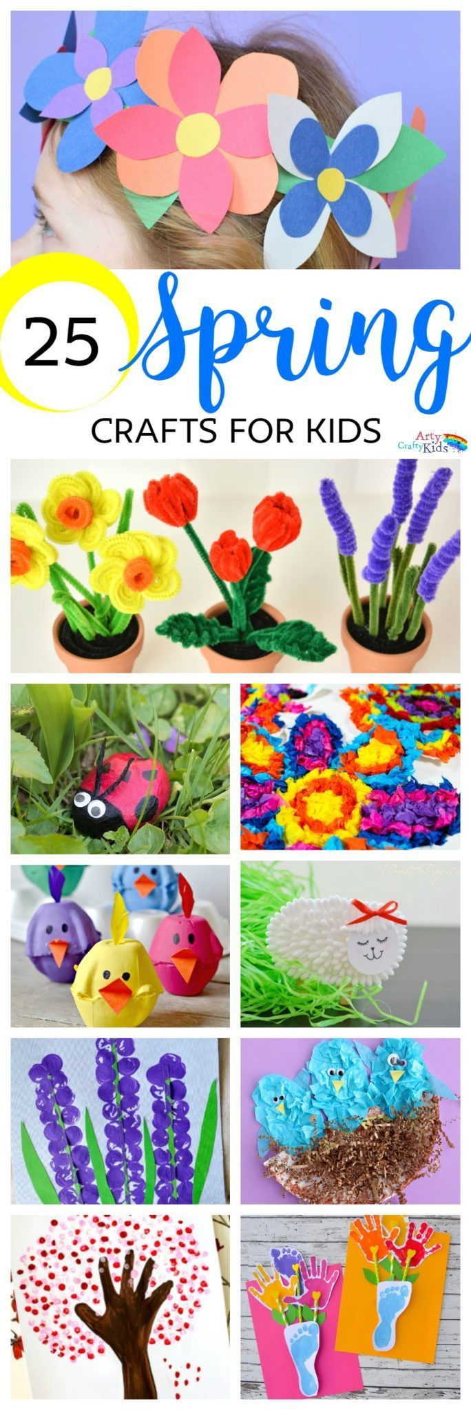 Best ideas about Easy Spring Crafts For Kids . Save or Pin Easy Spring Crafts for Kids Arty Crafty Kids Now.