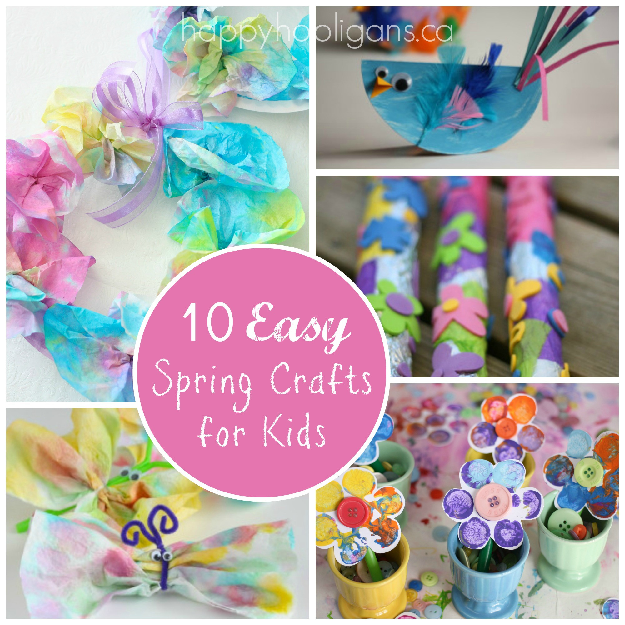Best ideas about Easy Spring Crafts For Kids . Save or Pin Spring Break Kids Activities Round Up The Idea Room Now.