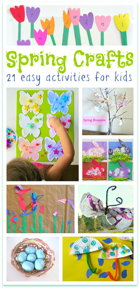 Best ideas about Easy Spring Crafts For Kids . Save or Pin Spring Crafts For Kids No Time For Flash Cards Now.