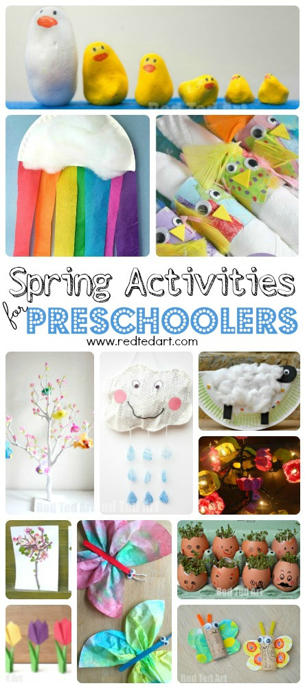 Best ideas about Easy Spring Crafts For Preschoolers . Save or Pin Easy Spring Crafts for Preschoolers and Toddlers Red Ted Now.