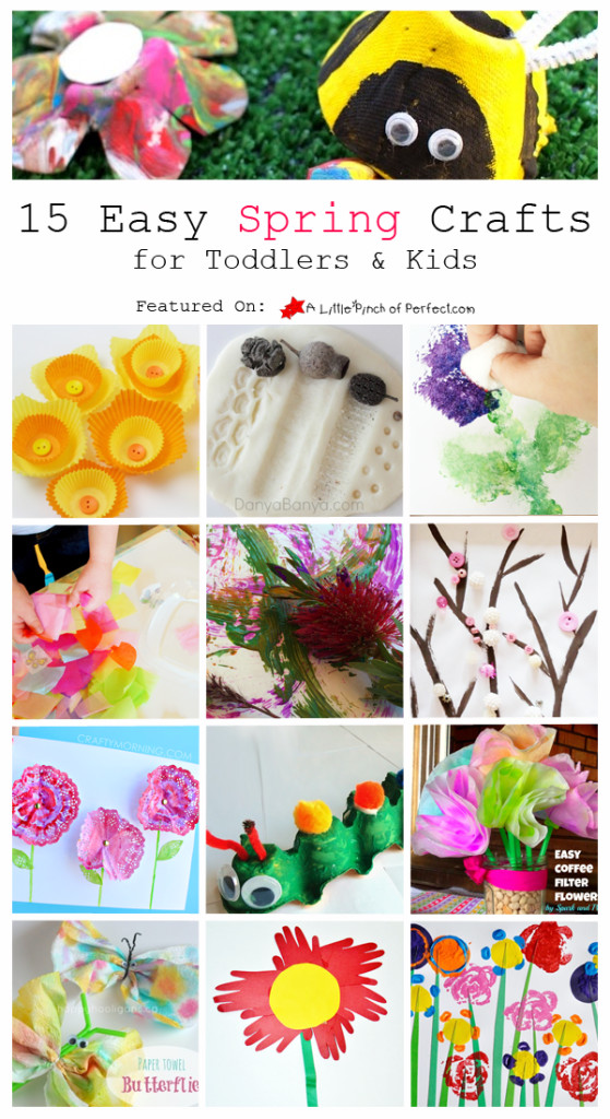 Best ideas about Easy Spring Crafts For Preschoolers . Save or Pin 15 Easy Spring Crafts for Toddlers & Kids Now.
