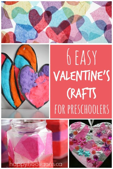 Best ideas about Easy Valentine Crafts For Preschoolers . Save or Pin 6 Easy Valentine s Crafts for Kids Happy Hooligans Now.