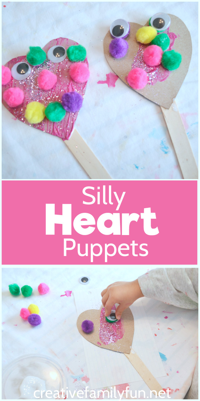 Best ideas about Easy Valentine Crafts For Preschoolers . Save or Pin Silly Heart Puppet Valentine Craft Now.