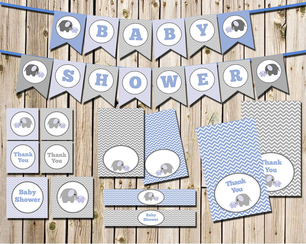 Best ideas about Elephant Baby Shower Decorations DIY . Save or Pin Elephant Baby Shower Decorations Package INSTANT DOWNLOAD DIY Now.