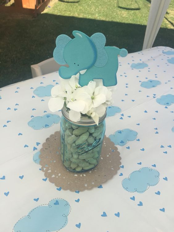 Best ideas about Elephant Baby Shower Decorations DIY . Save or Pin Elephant little peanut baby shower centerpiece Now.