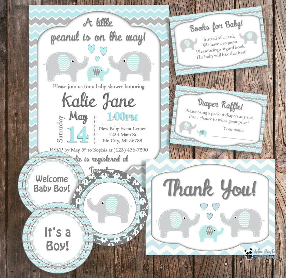 Best ideas about Elephant Baby Shower Decorations DIY . Save or Pin DIY Baby Shower Package Elephant Baby Shower Blue Elephant Now.