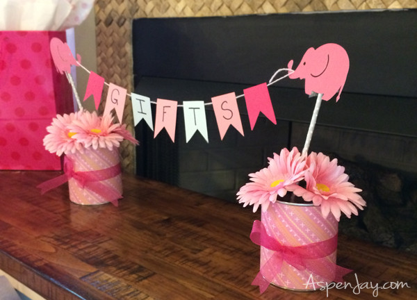 Best ideas about Elephant Baby Shower Decorations DIY . Save or Pin Pink Elephant Baby Shower Aspen Jay Now.
