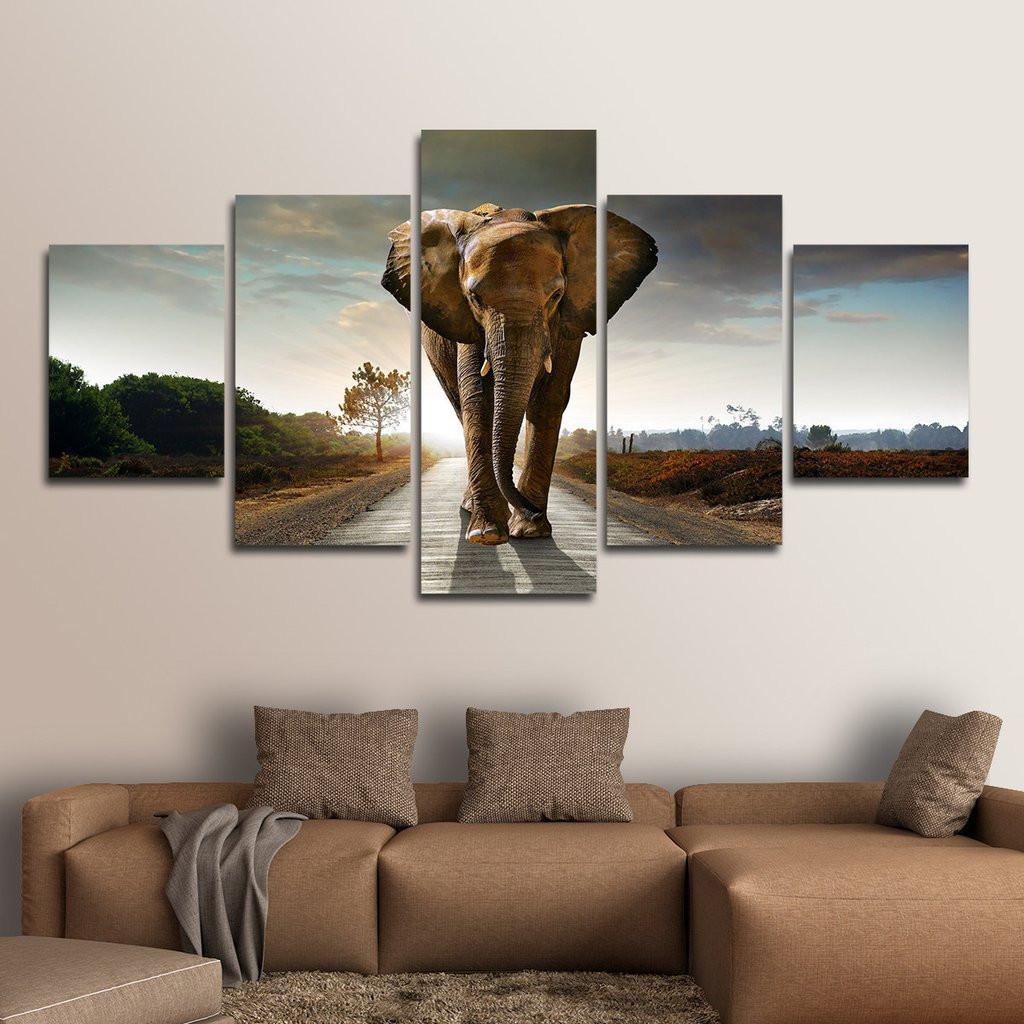 Best ideas about Elephant Wall Art . Save or Pin Elephant Stock Multi Panel Canvas Wall Art – ElephantStock Now.