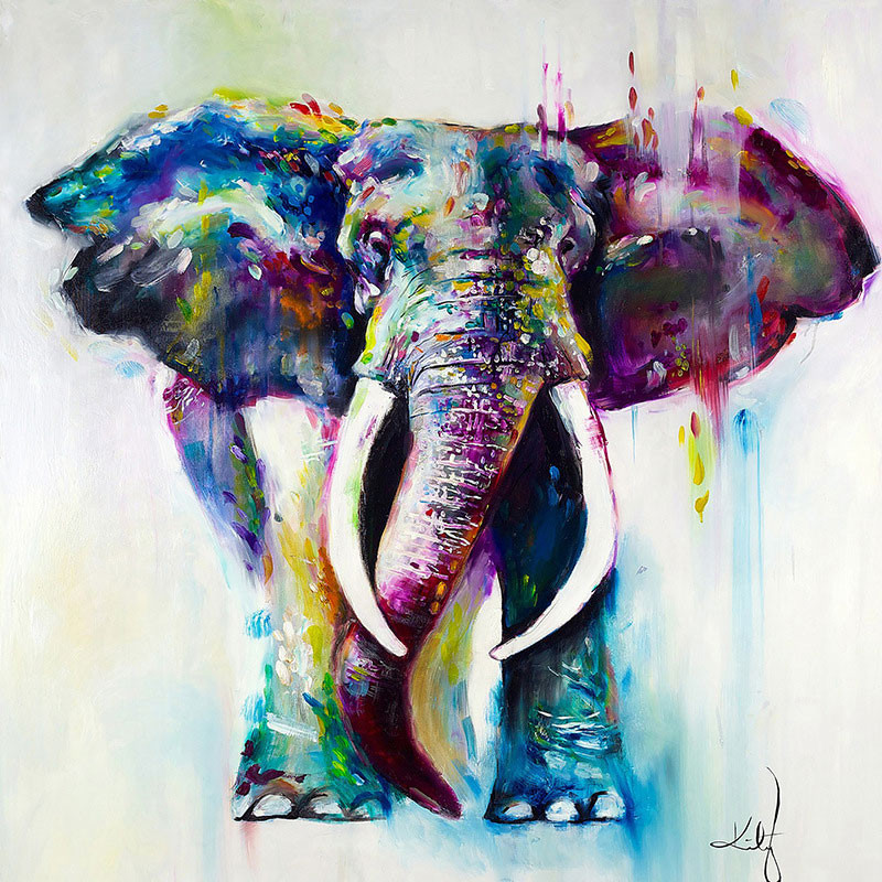Best ideas about Elephant Wall Art . Save or Pin Canvas Oil Prints Modern Home Decor Animal Elephant Wall Now.
