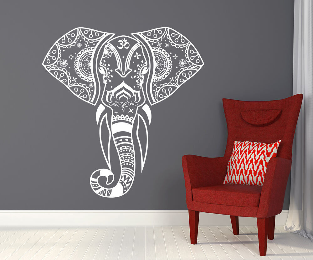 Best ideas about Elephant Wall Art . Save or Pin Mandala Elephant Wall Decals Hippie Decal Yoga Vinyl Now.