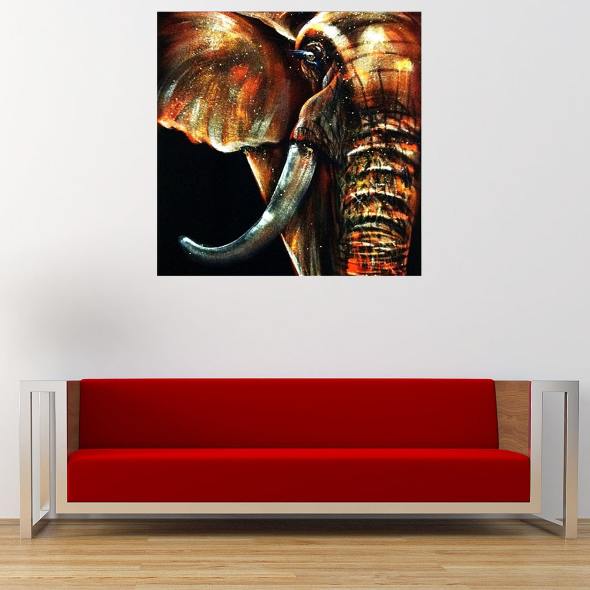 Best ideas about Elephant Wall Art . Save or Pin 50x50cm Modern Abstract Huge Elephant Wall Art Decor Oil Now.