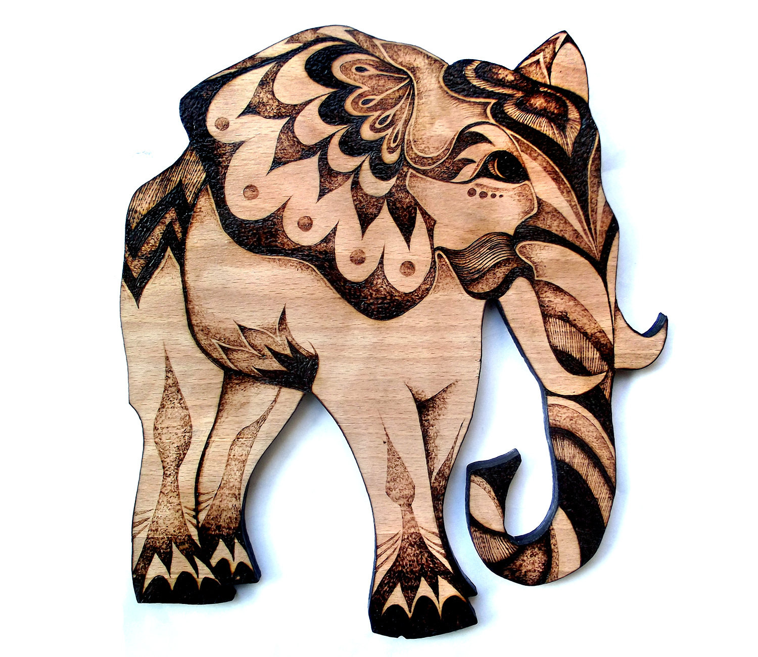 Best ideas about Elephant Wall Art . Save or Pin Elephant Wall Art Wood Wall hanging Pyrography by Now.