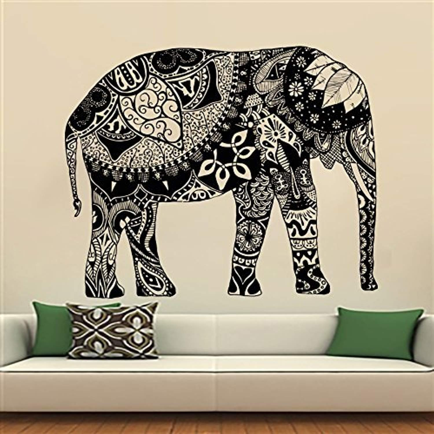 Best ideas about Elephant Wall Art . Save or Pin Elephant Wall Stickers Decals Indian Pattern Decal Vinyl Now.