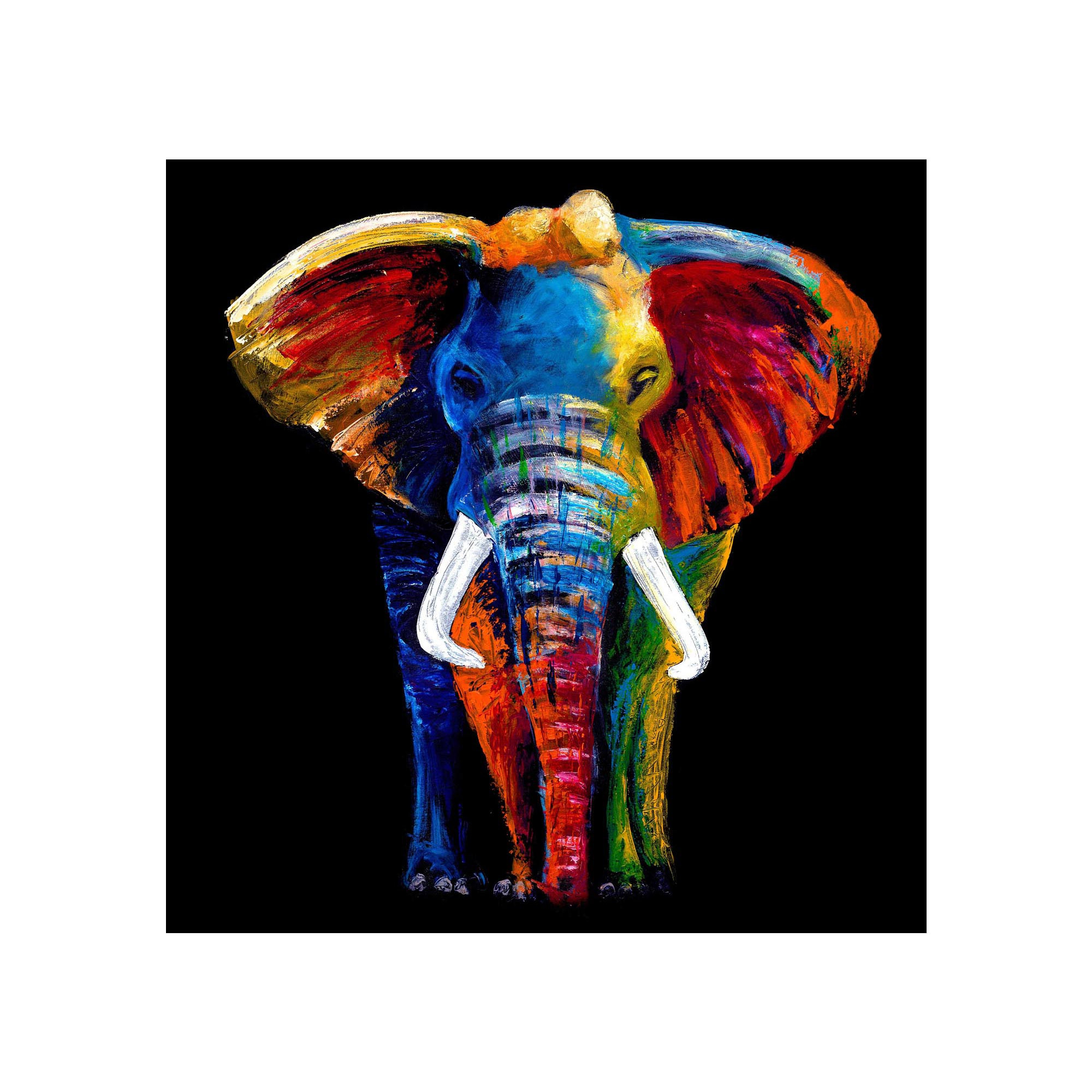 Best ideas about Elephant Wall Art . Save or Pin Glass Art Now.