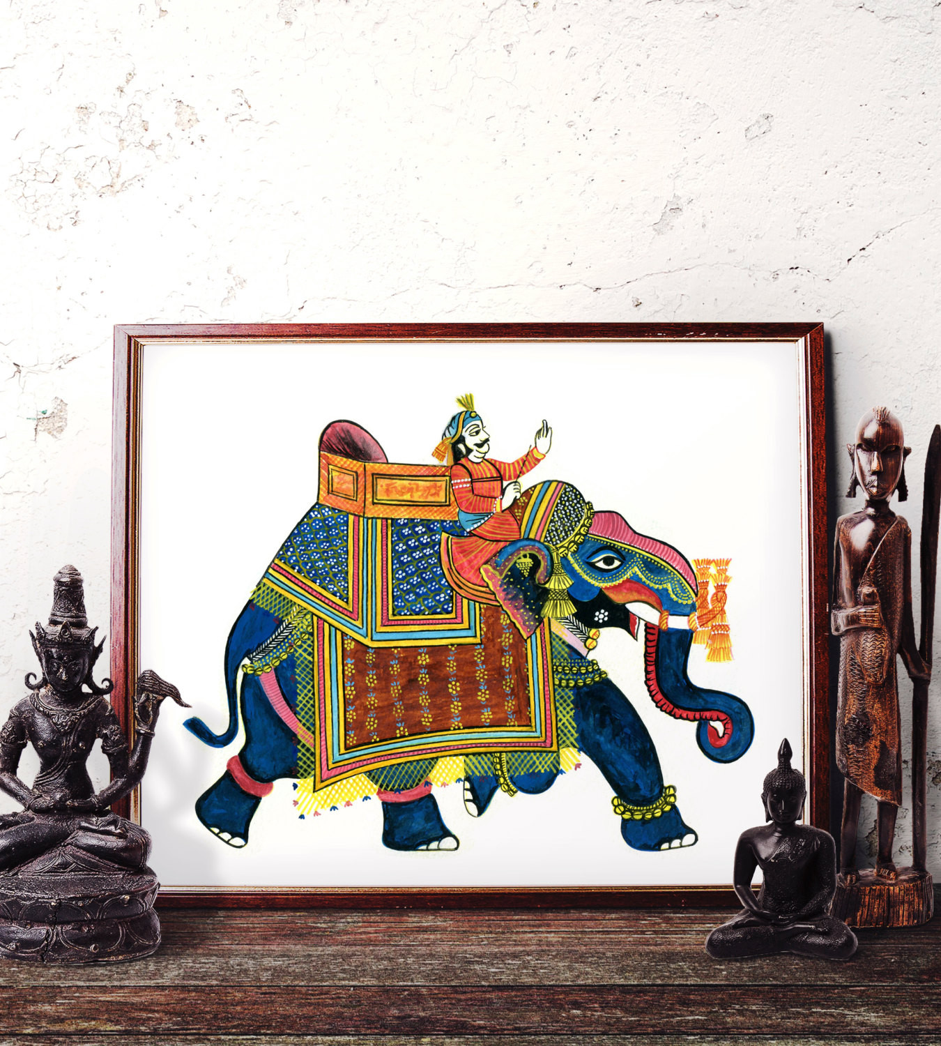 Best ideas about Elephant Wall Art . Save or Pin Elephant Wall Art Traditional Indian Elephant Watercolor Now.