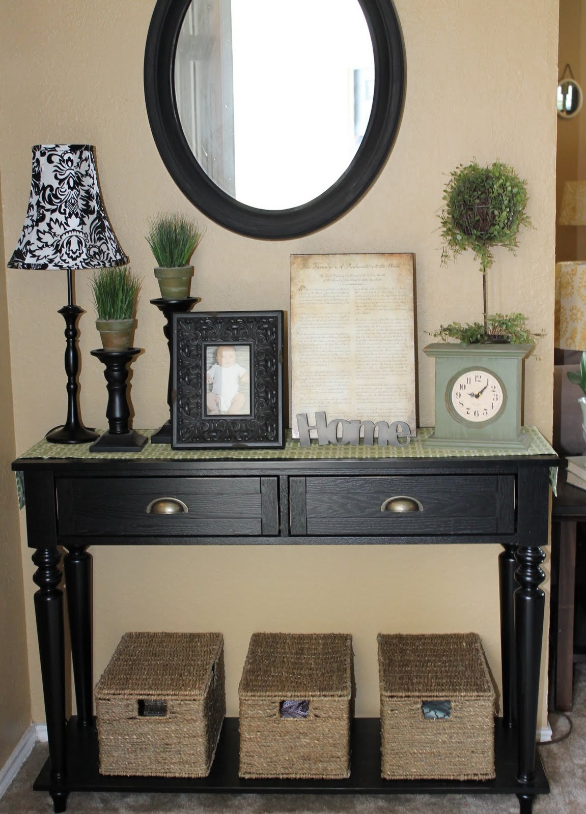 Best ideas about Entrance Table Ideas . Save or Pin The Walkers Entryway table dilemma Now.