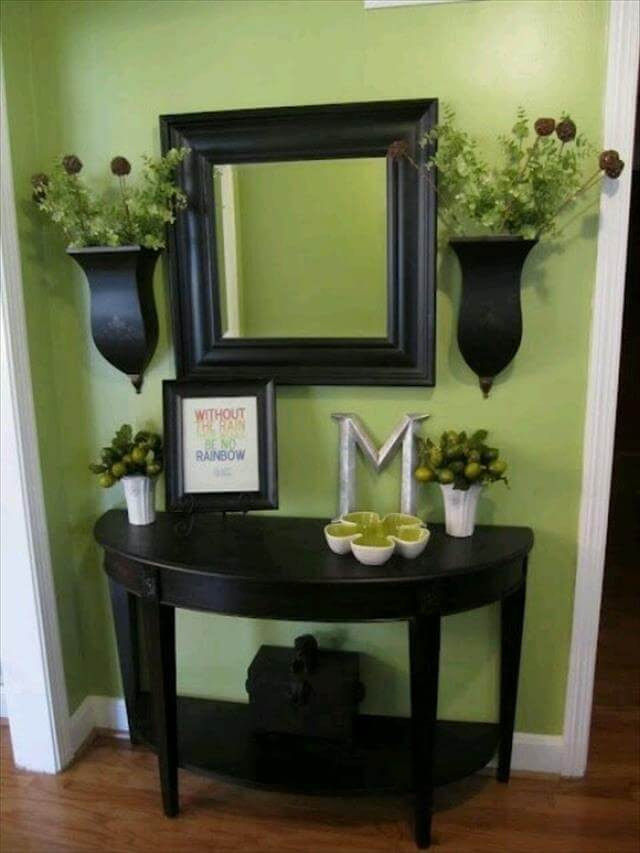 Best ideas about Entrance Table Ideas . Save or Pin 10 DIY Entryway Decor And Storage Ideas Now.
