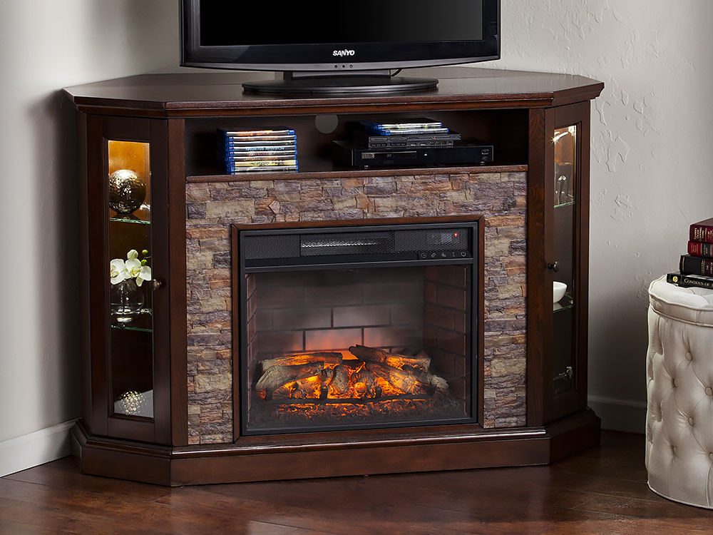 Best ideas about Espresso Fireplace Tv Stand . Save or Pin Redden Wall Corner Infrared Electric Fireplace TV Stand in Now.