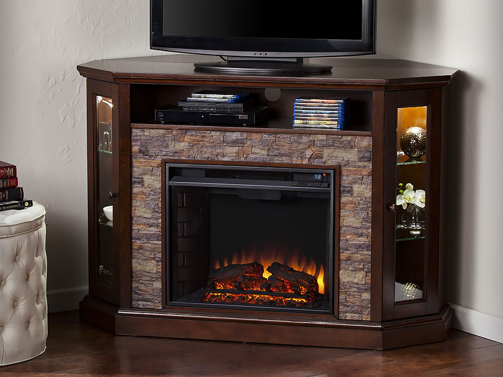 Best ideas about Espresso Fireplace Tv Stand . Save or Pin Redden Wall Corner Electric Fireplace TV Stand in Espresso Now.