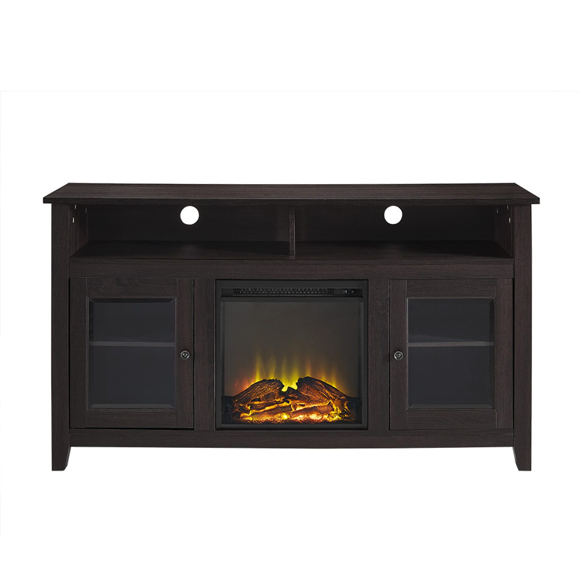 Best ideas about Espresso Fireplace Tv Stand . Save or Pin Wasatch 58 Inch Highboy Fireplace TV Stand Espresso by Now.